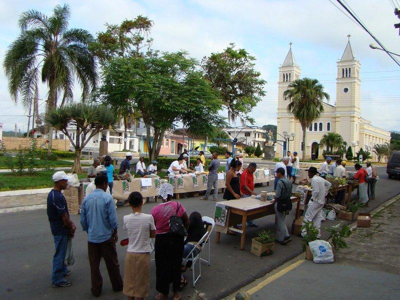 Vista da primeira edição da feira, realizada em 2008, em Eldorado (SP)