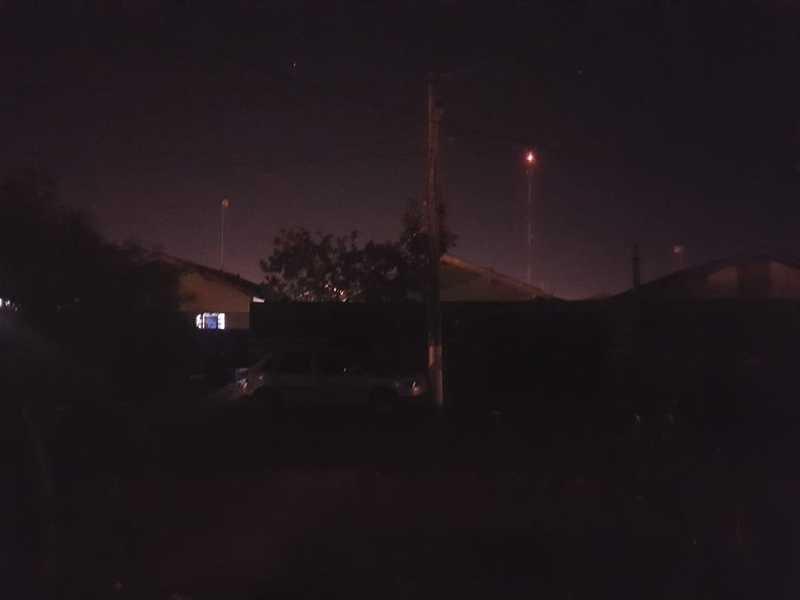 Luz do poste queimada