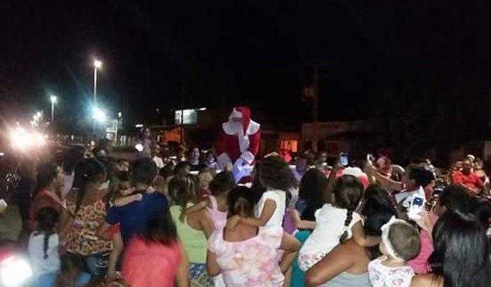 A Chegada do Papai Noel em Barauna/Rn