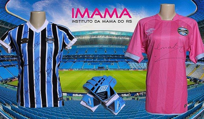 Ação entre amigos IMAMA - Kit Autografado do Grêmio