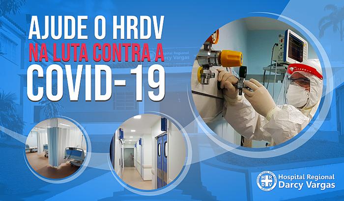 Ajude o Hospital Darcy Vargas na luta contra a COVID-19