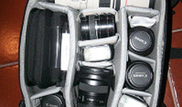 Equipamento de trabalho fotográfico roubado