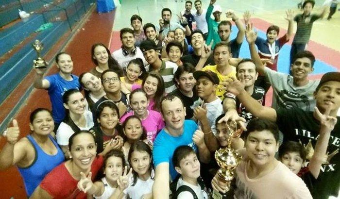 Atletas AMKS no Panamerican de Karatê