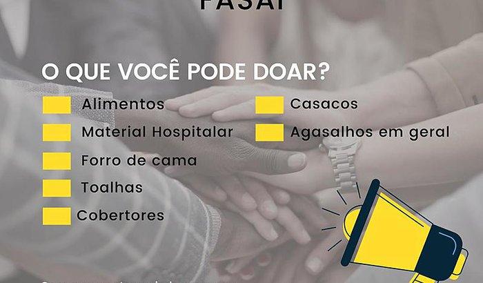 Primeira ação social da IIIturma- FASAI