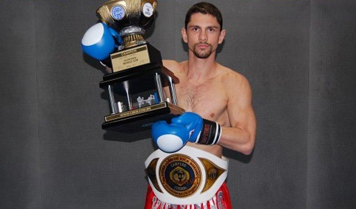 Daniel Mattos no Campeonato Mundial de Kickboxing (WAKO) 2015