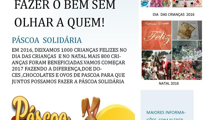 Pascoa solidaria