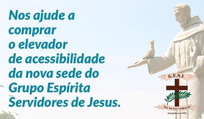 ELEVADOR PARA A NOVA SEDE DO GRUPO ESPÍRITA SERVIDORES DE JESUS