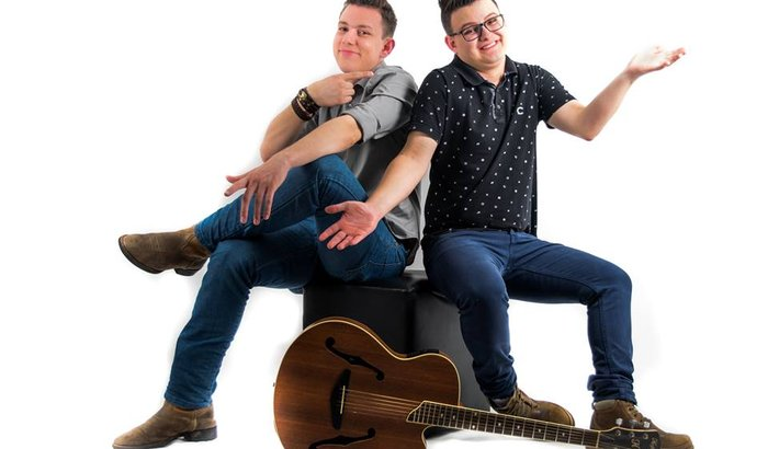 Zé Moreno e Rafael a gravar o primeiro EP