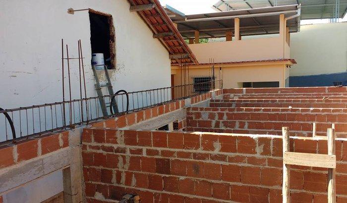 Construção de salas para as crianças da IASD de Rio Novo do Sul