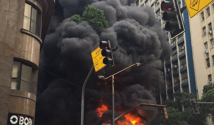 Banca Av. Rio Branco - Incêndio 01/02/2017 - Manifestação ALERJ