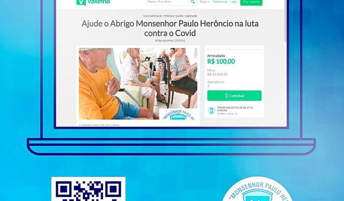 Ajude o Abrigo Monsenhor Paulo Herôncio na luta contra o  Covid