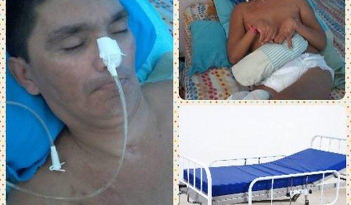 ajude a comprar uma cama hospitalar
