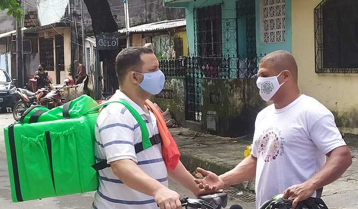 Doação de bicicleta na pandemia
