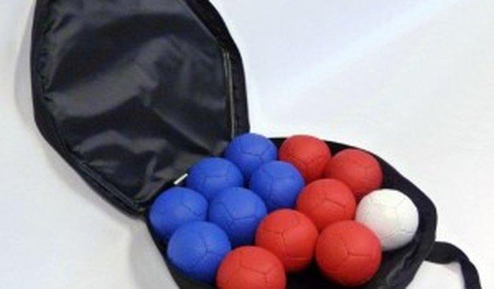 Kit de bolinhas de bocha paraolímpica do atleta Fabio