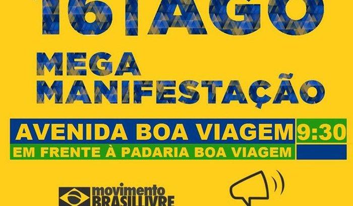 Manifestação de 16/8 em Recife!