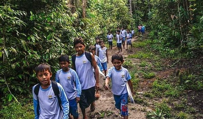 Ajude as crianças da Floresta Amazônica