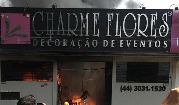 Sustento Luiza - Charme Decorações destruída por fogo