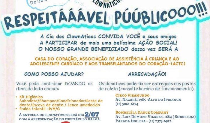 Campanha de Arrecadação ACTC!!!