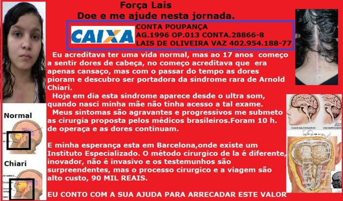 Ajude a Laís!