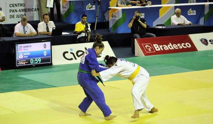 Anna Emanuella no Campeonato Sul Americano de Judô