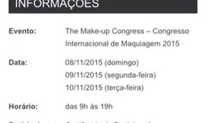 CONGRESSO INTERNACIONAL DE MAQUIAGEM
