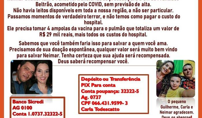 Ajude no tratamento do Neimar (COVID - 19)