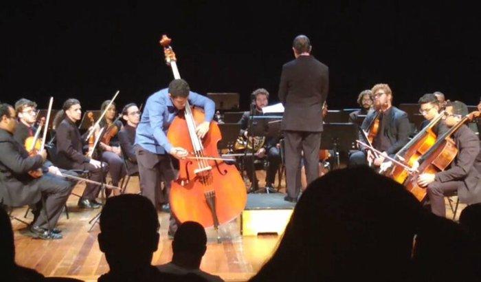 Jhonatas Carmo na Hochschule für Musik Saar