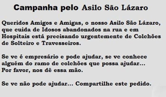 ASILO SÃO LAZARO