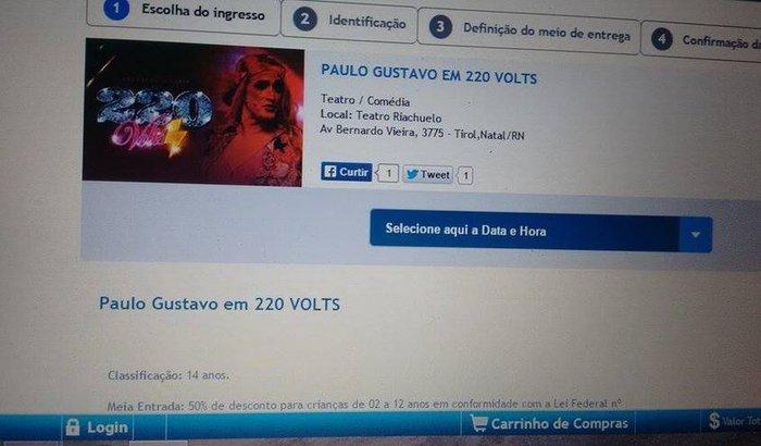 Vaquinha para ir ao show de Paulo Gustavo