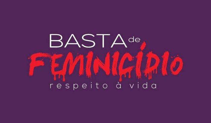 panfletos BASTA DE FEMINICÍDIO