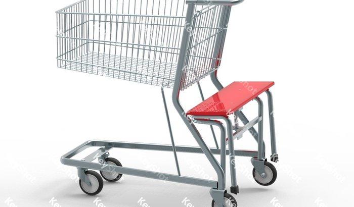 banco em carrinhos de supermercados e aeropaindaortos