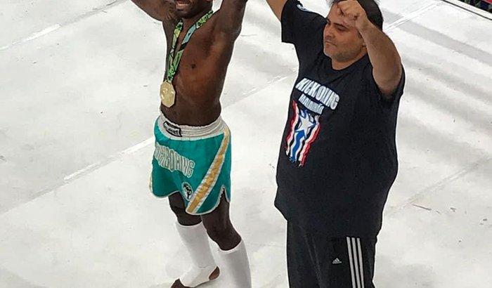 Jucinaldo Pelezinho Creed Lutando no PANAMERICANO Kickboxing