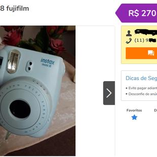 cc48b8b168072 Compra de Câmera Polaroid para trabalhar com decoração de evento -  Vaquinhas online