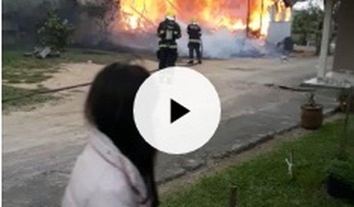 Incêndio - Casa Airton - Madre/Tubarão-SC