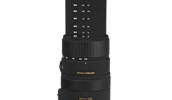 Lente Sigma 50-500mm F/4.5-6.3 Dg Os Hsm Para Canon