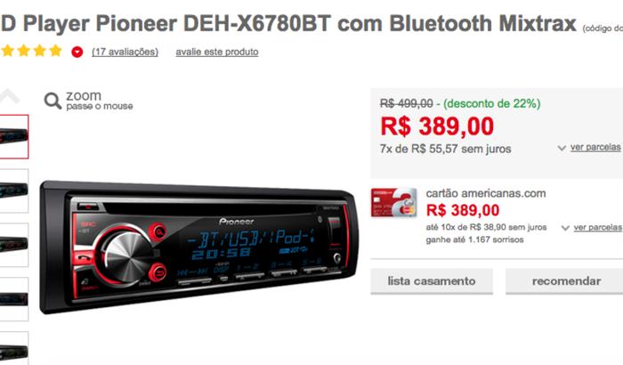 Rádio Novo para o Carro.