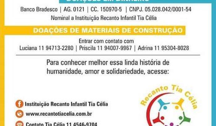 Construindo um novo lar Recanto Tia Célia