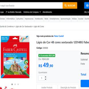 fdd0bf250c Lápis de Cor Faber Castell 48 cores - Vaquinhas online