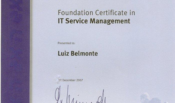 Ajuda para pagamento de certificação ITIL