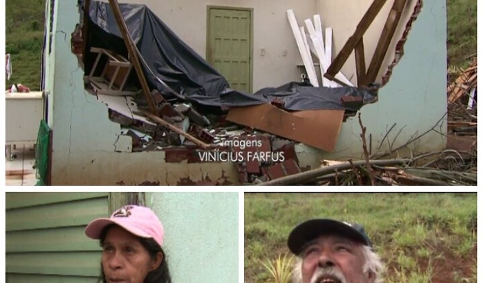 Um teto para Maria e José vítimas da força da natureza
