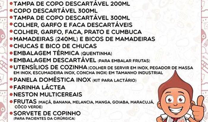 Campanha de Doação Alunos de Enfermagem para Hospital Martagão
