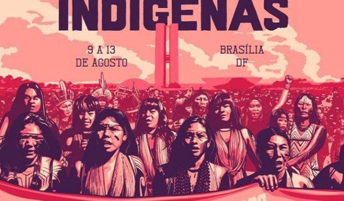 Mulheres Indígenas do DF na Marcha das Mulheres Indígenas