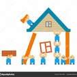 Thumb depositphotos 226737868 stock illustration builders building house cartoon style