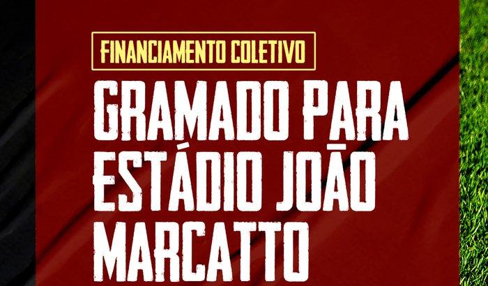Gramado novo para o João Marcatto