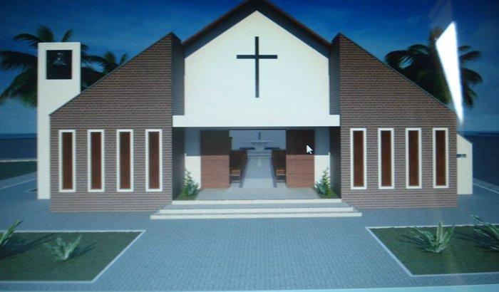 Construção da igreja de Santa Terezinha, Fortaleza-Ce