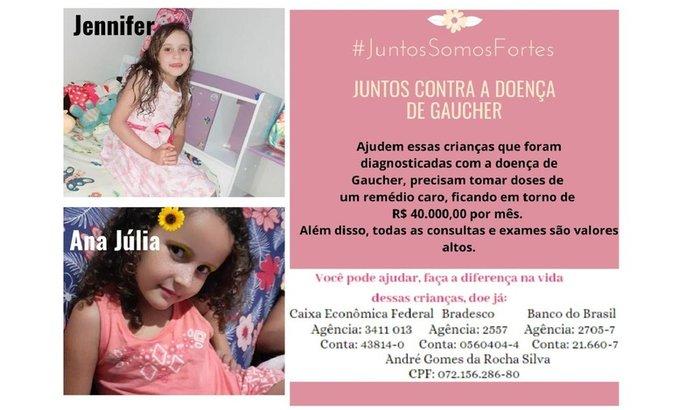 Ana Júlia e Jennifer - Juntos Contra a Doença de Gaucher
