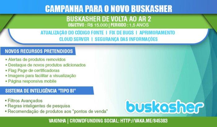 Vakinha Buskasher - novo projeto