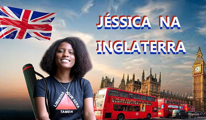 Jéssica na Inglaterra