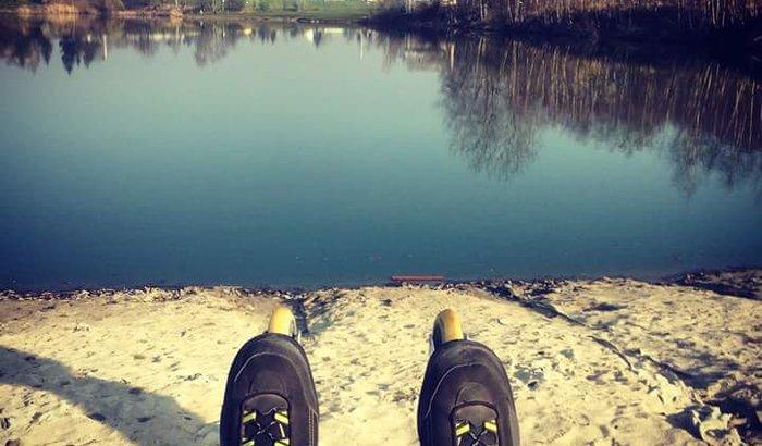 Realizar o sonho ter um patins