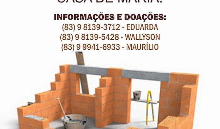 CONSTRUÇÃO DO SALÃO DAS GRAÇAS - CASA DE MARIA